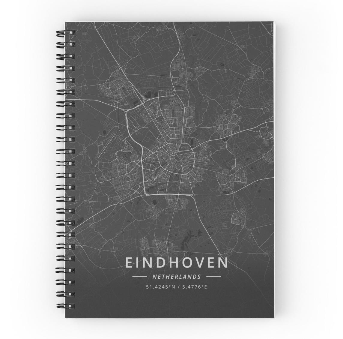 Eindhoven Netherlands Dark Map, by DesignerMapArt | ByMaSOLE